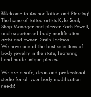 Custom Tattoo and Piercing since 1998